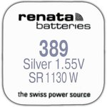 R 389 (SR 1130 W, 1.55V, 80mAh, 11.6x3.1mm)(бат-ка для часов)