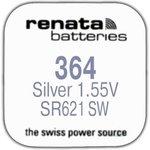 R 364 (SR 621 SW, 1.55V, 22mAh, 6.8x2.1mm)(бат-ка для часов)