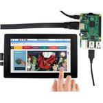 Фото 4/4 7inch HDMI LCD (H) (with case), IPS дисплей 1024×600px с емкостной сенсорной панелью для мини-PC (с корпусом)