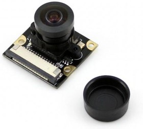 "Фото 1/4 RPi Camera (G), Камера для Raspberry Pi Model B+/2/3,регулируемый фокус, объектив""рыбий глаз"",160гр, 5mpx"