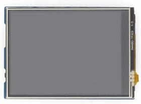 Фото 1/4 3.2inch TFT Touch Shield, TFT дисплей 320×240px с резистивной сенсорной панелью совместимый с Arduino UNO/Leonardo, UNO PLUS