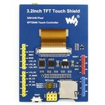 Фото 3/4 3.2inch TFT Touch Shield, TFT дисплей 320×240px с резистивной сенсорной панелью совместимый с Arduino UNO/Leonardo, UNO PLUS