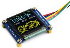 Фото 1/4 1.5inch RGB OLED Module, RGB OLED дисплей с разрешением 128х128px, интерфейс SPI, 65к цветов