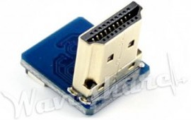 Фото 1/2 HDMI Adapter Vertical, HDMI-разъем для шлейфа 20-пин с шагом 0.5мм, угловой разъем