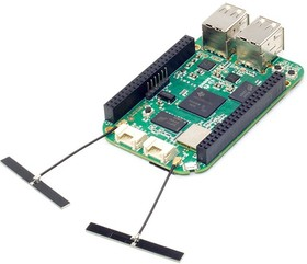 Фото 1/6 BeagleBone Green Wireless, Одноплатный компьютер на базе процессора AM3358 с ядром ARM Cortex-A8, WiFi+Bluetooth