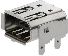 53984-0681, Conn IEEE 1394 F 6 POS 2mm Solder RA Thru-Hole 6 Terminal 1 Port Tray