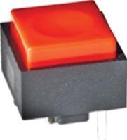 KS11R23CBD, Switch Key OFF Mom SPST 20VAC 20VDC 0.4VA PC Pins Thru-Hole Bulk