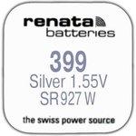 R 399 (SR 927 W, 1.55V, 57mAh, 9.5x2.6mm)(батарейка для часов)