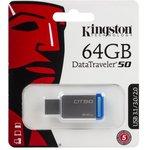 Флешка USB KINGSTON DataTraveler 50 64Гб, USB3.1 ...