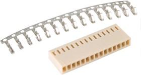 Фото 1/2 HU-15 (DS1070-15 F), Розетка на кабель c контактами 2.54мм