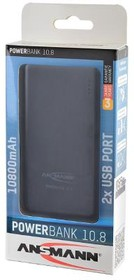 Фото 1/2 ANSMANN 1700-0067 Powerbank 10800мАч в комплекте с шнуром USB-microUSB BL1, Универсальный внешний аккумулятор