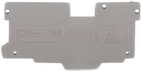 769-307, 1 CONDUCTOR 1 PIN CARRIER GREY END PLATE