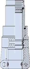 M85049/1724N04A, EMI/RFI Environmental Backshell 180° 24 Shell Size Electroless Nickel Aluminum