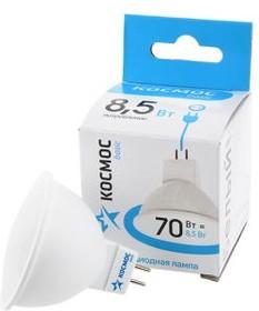 Фото 1/2 КОСМОС BASIC LED8.5wJCDRC45 8.5Вт GU5.3 4500K BL1, Лампа светодиодная