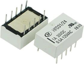 Фото 1/2 HFD31/24, Реле электромагнитное 2 пер. 2А/125VAC
