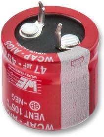 Фото 1/2 861021486027, Электролитический конденсатор, фиксация защелкой, 150 мкФ, 450 В, Серия WCAP-AIG5