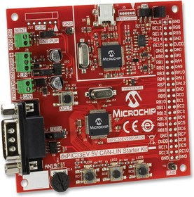 Фото 1/2 DM330018, Макетная плата, A - mini-B USB, CAN, LIN и SENT, PKOB