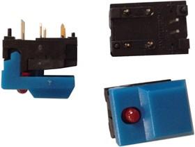 SP86L-A1-9-03, синяя кнопка с красным светодиодом