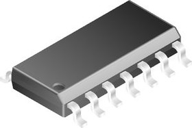 THAT320S14-U, Массив биполярных транзисторов, малошумящий, PNP, -40 В, -20 мА, 75 hFE, SOIC