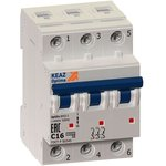 Выключатель автоматический OptiDin BM63-3C16-10-УХЛ3 КЭАЗ 249257