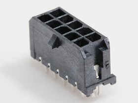 0430451025, Conn Power HDR 10 POS 3mm Solder ST Thru-Hole 10 Terminal 1 Port Micro-Fit 3.0™ Tray