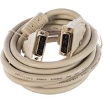 Кабель DVI-D single link CC-DVI-10 19M/19M 3.0м серый экран феррит.кольца пакет