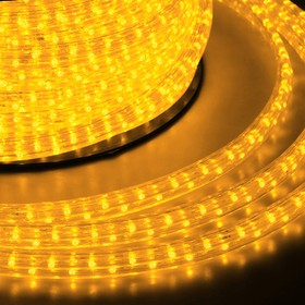 121-411, Гирлянда «Дюралайт» светодиодная, 6 м, IP65 с 2 коннекторами, диоды жёлтые