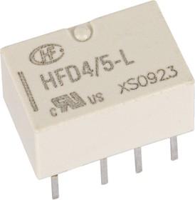 Фото 1/2 HFD4/5L (IM43TS), Реле бистабильное 5VDC 2 пер. 2А/250VAC