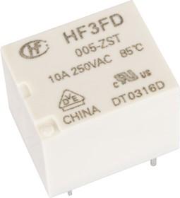 Фото 1/2 HF3FD/005-ZST, Реле 1пер. 5VDC/ 5A, 240VAC