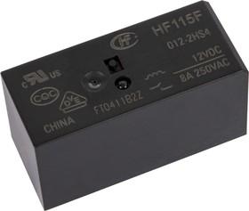 HF115F/012-2HS4 (RT444012) (9-1393243-7), Реле 2зам. 12VDC/ 8A, 250VAC