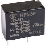 HF33F/012-ZST, Реле 1пер. 12VDC/ 3A, 250VAC