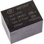 HF7FF/024-1ZTS, Реле 1пер. 24VDC/ 10A, 250VAC