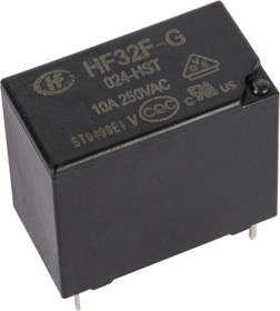 Фото 1/2 HF32F-G/024-HST, Реле 1зам. 24VDC/ 10A, 250VAC