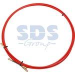 47-1003, Протяжка кабельная (мини УЗК в бухте), стеклопруток, d=3,5 мм, 3 м, красная