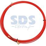 47-1007, Протяжка кабельная (мини УЗК в бухте), стеклопруток, d=3,5 мм, 7 м красная