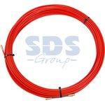 47-1025, Протяжка кабельная (мини УЗК в бухте), стеклопруток, d=3,5 мм, 25 м, красная
