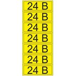 55-0002-1, Наклейка знак электробезопасности «24 В» 35х100 мм (7 шт на листе)