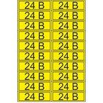 55-0002, Наклейка знак электробезопасности «24 В» 15х50 мм (20 шт на листе)