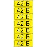 55-0003-1, Наклейка знак электробезопасности «42 В» 35х100 мм (7 шт на листе)