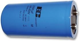 MAL210217222E3, Электролитический конденсатор, винтовые выводы, 2200 мкФ, 450 В, Серия 102 PHR-ST