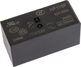 Фото 1/2 HF115F/024-2HS4 (RT444024) (9-1393243-9), Реле 2зам. 24VDC/ 8A, 250VAC