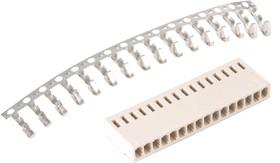 Фото 1/2 HU-16 (DS1070-16 F), Розетка на кабель c контактами 2.54мм