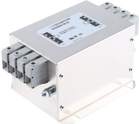 FN3256H-25-33, Power Line Filter 0Hz to 60Hz 25A 520VAC Terminal Block Flange Mount