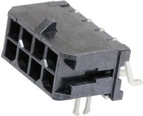 43045-0806, Разъем типа провод-плата, 3 мм, 8 контакт(-ов), Штыревой Разъем, Micro-Fit 3.0 43045 Series
