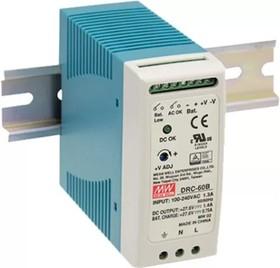DRC-60B, Блок питания с функцией UPS, 27.6В,1.4А; 27.6В,0.75А; 59.34Вт