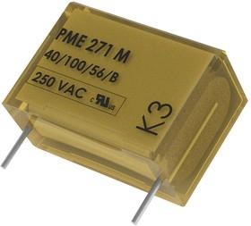 Фото 1/2 PME271MD6330KR30, Пленочный конденсатор, 0.33 мкФ, X2, серия PME271M, 275 В, Бумага (MP)