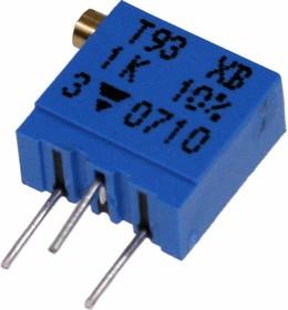 Фото 1/2 T93XB504KT20, 500 кОм, 0,5 Вт, Резистор подстроечный