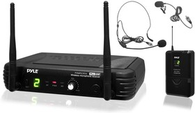 PDWM1904, UHF Wireless Microphone System with Bodypack, Headset and Lavalier