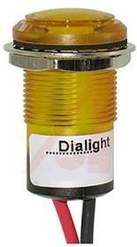 657-1702-103F, LED Panel Mount Indicator Uni-Color Yellow Automotive 2-Pin
