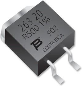 PWR263S-20-56R0F, SMD чип резистор, силовой, 56 Ом, 250 В, TO-263 (D2PAK), 20 Вт, ± 1%, Серия PWR263S